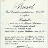 BREVET - Medalia 30 de ani de la eliberarea Romaniei de sub dominatia fascista