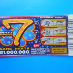 HOPCT CHILE [ AMERICA DE SUD ] BILET LOTO / LOTERIE - Bilet Loterie Numismatica