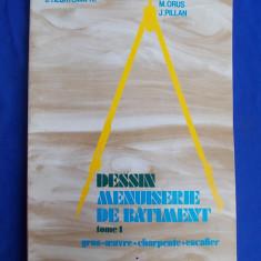 CARTE ARHITECTURA ~ J.HEURTEMATTE - DESSIN MENUISERIE DE BATIMENT * TOME 1 : GROS-OEUVRE-CHARPENTE-ESCALIER - PARIS - 1984