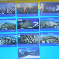 HOPCT BRAZILIA IMAGINI DIN SAO PAULO/ ANIVERSARE 451 ANI ORAS -SET COMPLET 10 CARTELE TELEFONICE ! - Cartela telefonica straina