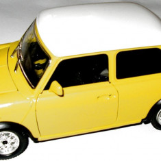 MACHETA METALICA Bburago, MINI COOPER, SCARA 1/24, MADE IN ITALY, TRANSPORT GRATUIT !!! - Macheta auto