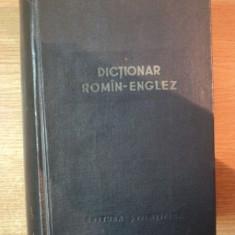 DICTIONAR ROMAN-ENGLEZ de LEON LEVITCHI 1960 - Carte in alte limbi straine