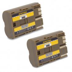 A PATONA | 2 Acumulatori pt Canon G1 G2 G3 Pro 90 IS MV30 MV30i BP 511 BP511 - Baterie Aparat foto