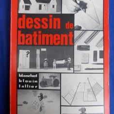 CARTE ARHITECTURA ~ BLANCHET / BLOUIN - DESSIN DE BATIMENT - 1979