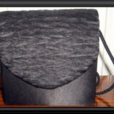 Poseta dama eleganta PUPA din catifea - NOU - Geanta Dama Made in Italia, Culoare: Negru, Marime: Mica, Geanta umar un maner