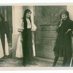 2687 - Sibiu, SALISTE, ETHNIC women - old postcard, real PHOTO - unused - Carte postala tematica, Necirculata