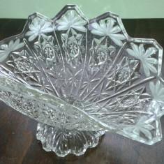 Fructiera Veche De Cristal Sau Semicristal Deosebita