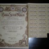 5 actiuni Banca Sporul Muncei, 2500 lei, 1927