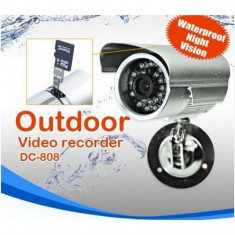 Camera Video Supraveghere Metal DVR cu Inregistrare Card microSD, Exterior, Color