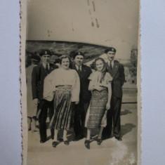 RARA! FOTOGRAFIE MILITARI IN UNIFORME DE PREGATIRE PREMILITARA CAROL II - Fotografie veche