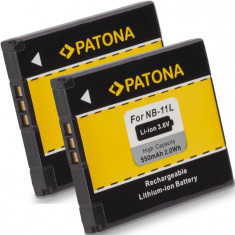 A PATONA | 2 Acumulatori compatibili Canon NB-11L NB11L NB 11L - Baterie Aparat foto