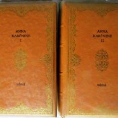 ANNA KARENINE, Vol. I+II, Tolstoi, 1974. Editie de lux, tiraj 1750 ex. Carti noi - Carte de lux