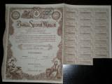 Actiune Banca Sporul Muncei, 500 lei, 1930