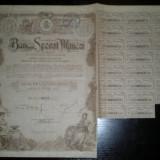 Actiune Banca Sporul Muncei, 500 lei, 1923