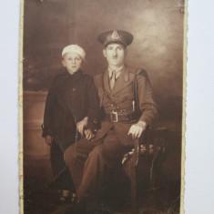 FOTOGRAFIE SUBOF. CU DIAGONALA SI EGHILET CAROL II ANII 30 - Fotografie veche