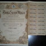 5 actiuni Banca Sporul Muncei, 2500 lei, 1923
