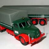 Herpa camion cu remorca lunga Henschel HS140 SZ 1:87
