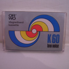 Vand caseta audio ORWO K 60, originala, raritate!