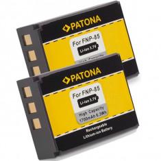 A PATONA | 2 Acumulatori compatibili Fuji NP-85 NP85 NP 85 | 1700mAh - Baterie Camera Video