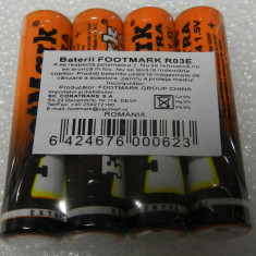 Baterii R3 AAA FootMark blister 4 bucati baterie 1.5V - Baterie Aparat foto, Tip AAA (R3)
