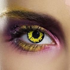 Lentile Yellow Werewolf Halloween + suport lentile GRATUIT, marca EDIT, fabricate in Marea Britanie - SUPER OKAZIE - Lentile de contact colorate