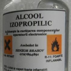 Alcool izopropilic de inalta puritate   Concentratie 99.99%   100ml