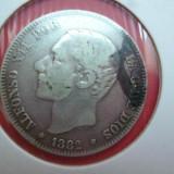 SPANIA 2 PESETAS 1882 ARGINT