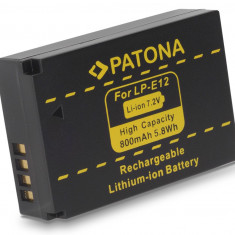 1 PATONA | Acumulator compatibil Canon LPE12 LP E12 LP-E12 | decodat - Baterie Camera Video