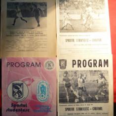 Lot 16 Programe Meci Fotbal -Sportul Studentesc 1986-1989 - Program meci