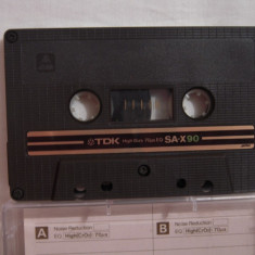 Vand caseta audio TDK-SA-X 90,originala,raritate!