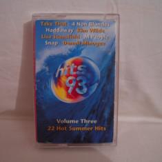 Vand caseta audio Hits 93 vol 3,originala,raritate!