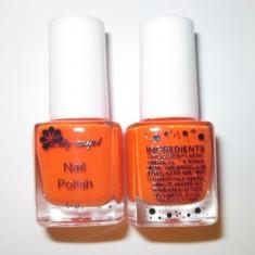 Oja speciala pt matrita / matrite ce se aplica cu stampila, culoarea portocalie - Lac de unghii