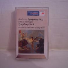 Vand caseta audio Beethoven-Symphony No 3-Eroica & Symphony No 8-Cleveland Orchestra-George Szell, originala, raritate! - Muzica Pop sony music, Casete audio