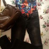 Jeans/Blugi Bershka - Blugi dama Bershka, Marime: 34, Culoare: Negru, Lungi