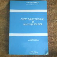 DREPT CONSTITUTIONAL SI INSTITUTII POLITICE - MIHAI BADESCU - Carte Drept constitutional