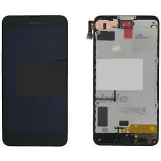 LCD+Touchscreen Nokia Lumia 630/Lumia 635 black cu Rama original