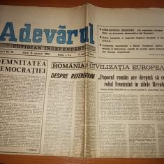 ziarul adevarul 16 ianuarie 1990