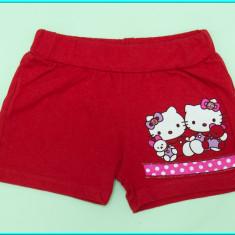IMPECABILI _ Pantaloni scurti fetite, din bumbac, HELLO KITTY _ fete | 6 - 7 ani, Marime: Alta, Culoare: Rosu