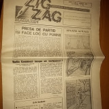 Ziarul zig-zag anul 1, nr. 6 aprilie 1990