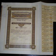Actiune Banca Romana Sebesana, 500 lei, 1930