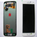 Display cu  RAMA Samsung Galaxy S5 G900 alb original Swap