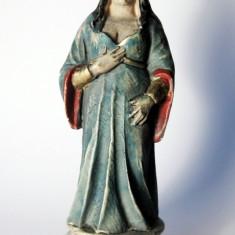 Statueta sculptura in alabastru pictata manual Preoteasa by Nigri