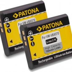 A PATONA | 2 Acumulatori pt Sanyo VPC CA102 CA102YL VPC-CG10 DBL80 D-Li88 DB-L80, Panasonic