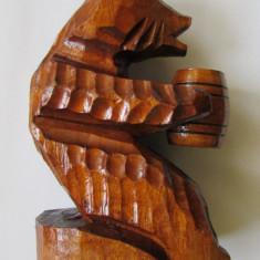 URSULET-sculptura in lemn, Animale