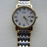 Ceas Rotary Barbatesc Mens Watch Auriu Slim Subtire Elegant Gold GB77835/32