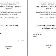 LUCRARE DE LICENTA AMG -INGRJIREA PACIENTILOR CU HIPERTIROIDISM (+ prezentare)