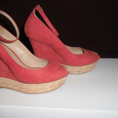 Sandale, platforma, Zara Basic Women, nr 39 - Sandale dama Zara, Culoare: Roz