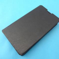 Husa Nokia X  Flip Cover Tip Carte cu Stand !!! Folie de protectie display CADOU !!!, Negru, Piele Ecologica