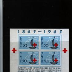 1963 elvetia bloc 19 conditie perfecta - Timbre straine