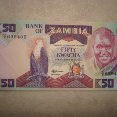 MONEDA ZAMBIA, 50 KWACHA - bancnota africa